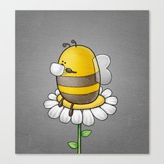 Bee Drinking Tea Canvas Print