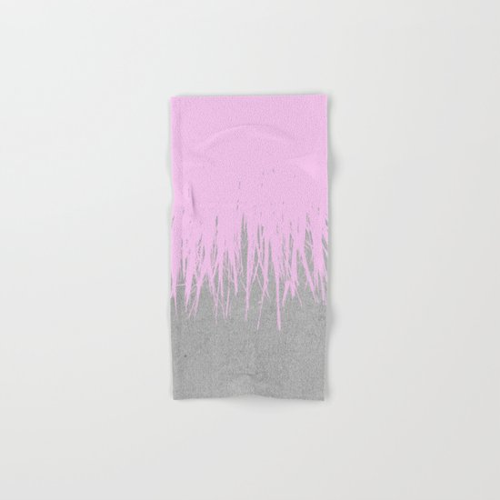 Concrete Fringe Blush Hand & Bath Towel