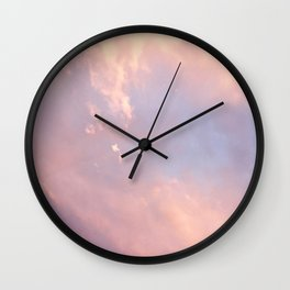 Cotton Candy Like Sky Wall Clock