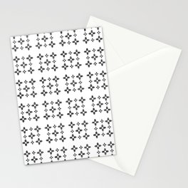Flag of new mexico 3: Black and white version Stationery Cards