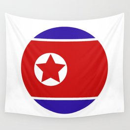north korea flag Wall Tapestry