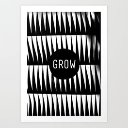 Black and White Grass (Customizable Label) Art Print