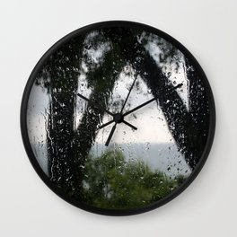 Rainy Day Lake Wall Clock