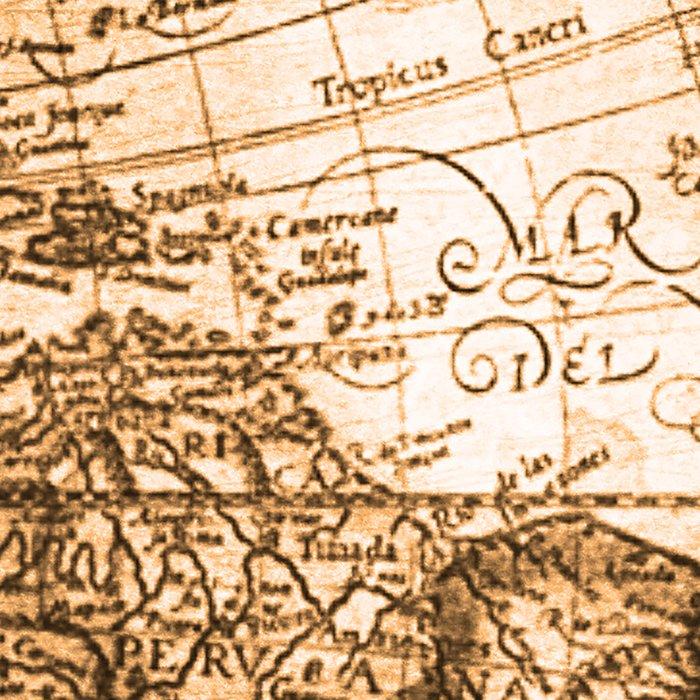 World Map Antique Vintage Maps Leggings