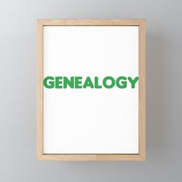 Sorry Cant Genealogy Family Genealogists Gift Framed Mini Art Print