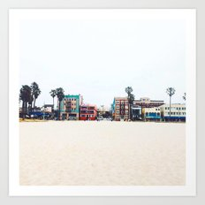 California Beach Art Print