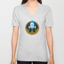 Space Rocket Unisex V-Neck