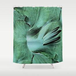 Gladioli Green Shower Curtain