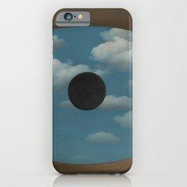 Rene Magritte False Mirror iPhone Case