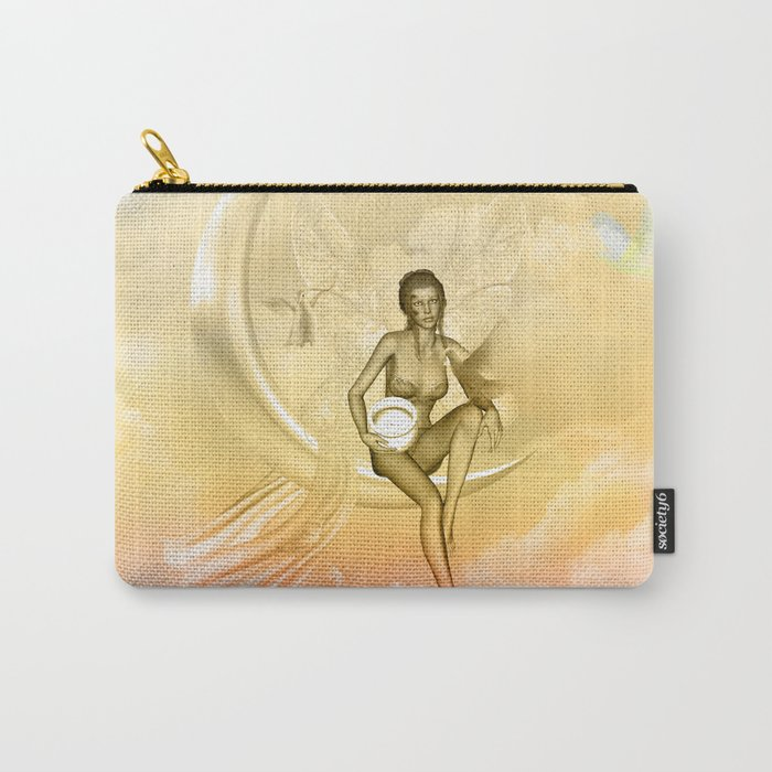 Wonderful fairy on a moon with dove Carry-All Pouch