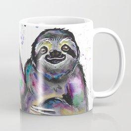 Watercolor Rainbow Sloth Coffee Mug