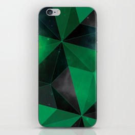 Shattered Green iPhone Skin