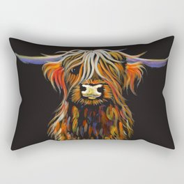 Scottish Highland Cow ' STEWART ' by Shirley MacArthur Rectangular Pillow