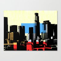 los angeles Canvas Prints featuring Los Angeles by Amy Smith - ColorScape