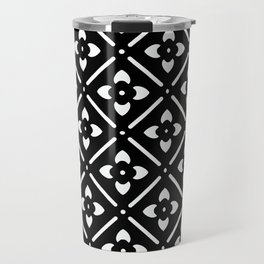 Nordic Edelweiss in Black and White Travel Mug