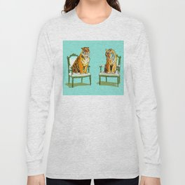 animals in chairs # 21 The Tigers Long Sleeve T-shirt