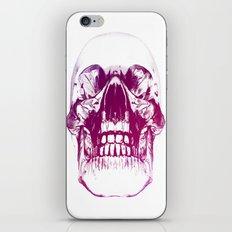 purple crystal skull iPhone & iPod Skin