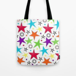 Trendy colourful star Tote Bag