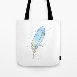 Splash feather Tote Bag