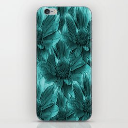 Turquoise Floral Abstract iPhone Skin