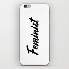 Feminist (on white) iPhone & iPod Skin