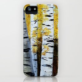 Birch Grove, acrylic painting, inspired by Belarus iPhone Case