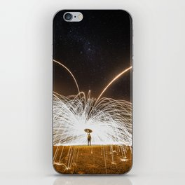 fire rain iPhone Skin