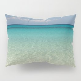 Crystal clear turquoise shaded waters of a sandy beach Pillow Sham