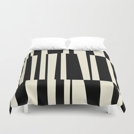 BW Oddities III - Black and White Mid Century Modern Geometric Abstract Duvet Cover