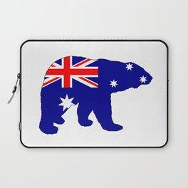 Australian Flag - Polar Bear Laptop Sleeve