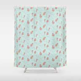 Robin's Egg in Blue Shower Curtain
