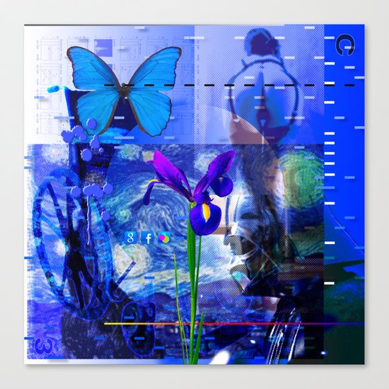 No Way No How < The NO Series (Blue) Canvas Print