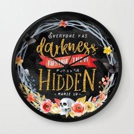 Darkness Hidden Wall Clock