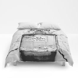 Broken perfume bottle Comforters