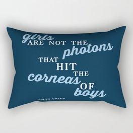 Girls Are Not Photons Rectangular Pillow