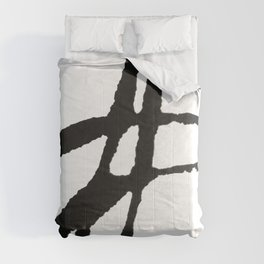 0523: a simple, bold, abstract piece in black and white by Alyssa Hamilton Art Comforters