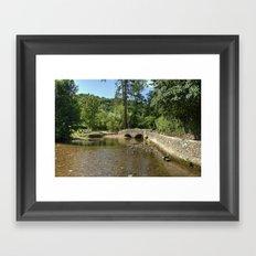 Gallox Bridge of Dunster Framed Art Print