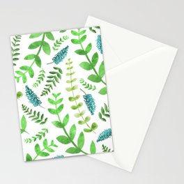 Greenery Leaves Pattern Stationery Cards
