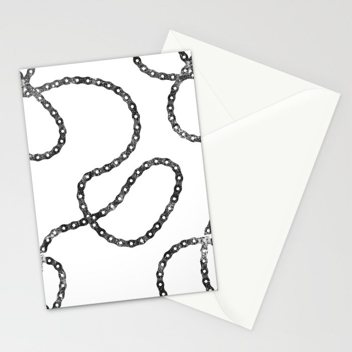 bicycle chain repeat pattern Stationery Cards