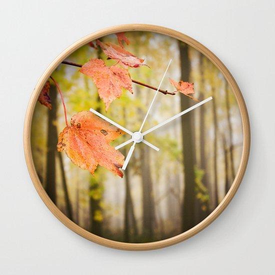 Autumn Fire Wall Clock