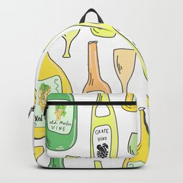 Light White. Wine proverb & pattern Backpack