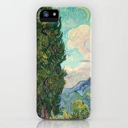 Cypresses by Vincent van Gogh iPhone Case