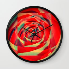 Into Rose Wall Clock