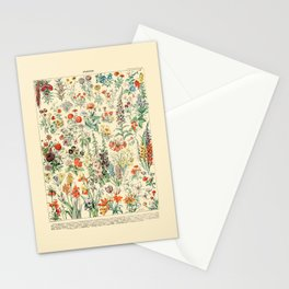 Wildflower Diagram // Fleurs II by Adolphe Millot 19th Century Artsy Floral Science Flower Artwork Stationery Cards