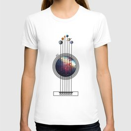 Space guitar. T-shirt