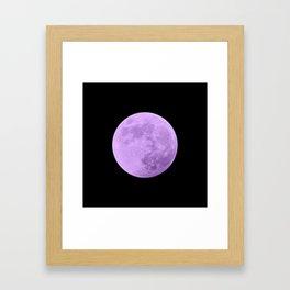 LAVENDER MOON // BLACK SKY Framed Art Print