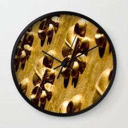 Parisian Gold Fluer De Lis Embossed Design Wall Clock