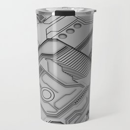 White Silicon Travel Mug