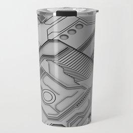White Silicon Travel Mug