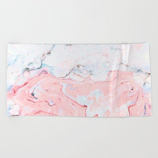 Marble Love #society6 #decor #buyart Beach Towel